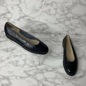Salvatore Ferragamo Women 6.5 Blue Slip On Loafer